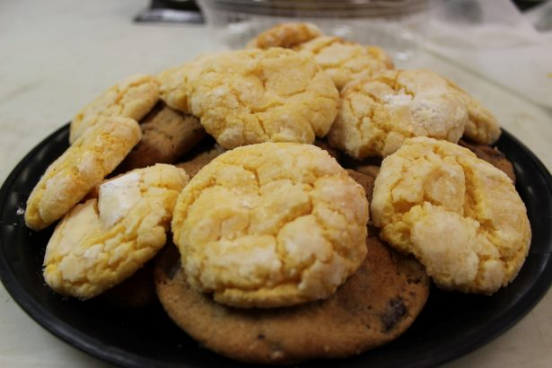 white assorted cookies with chocolate chip cookies