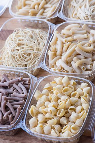Assortment of pastas ready to ship